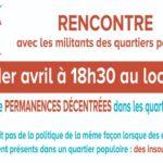 Rencontre avec des militant-es des Quartiers Populaires 🗓 🗺